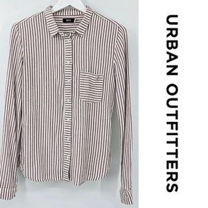 NWT Urban Outfitters BDG Button Front Striped Top